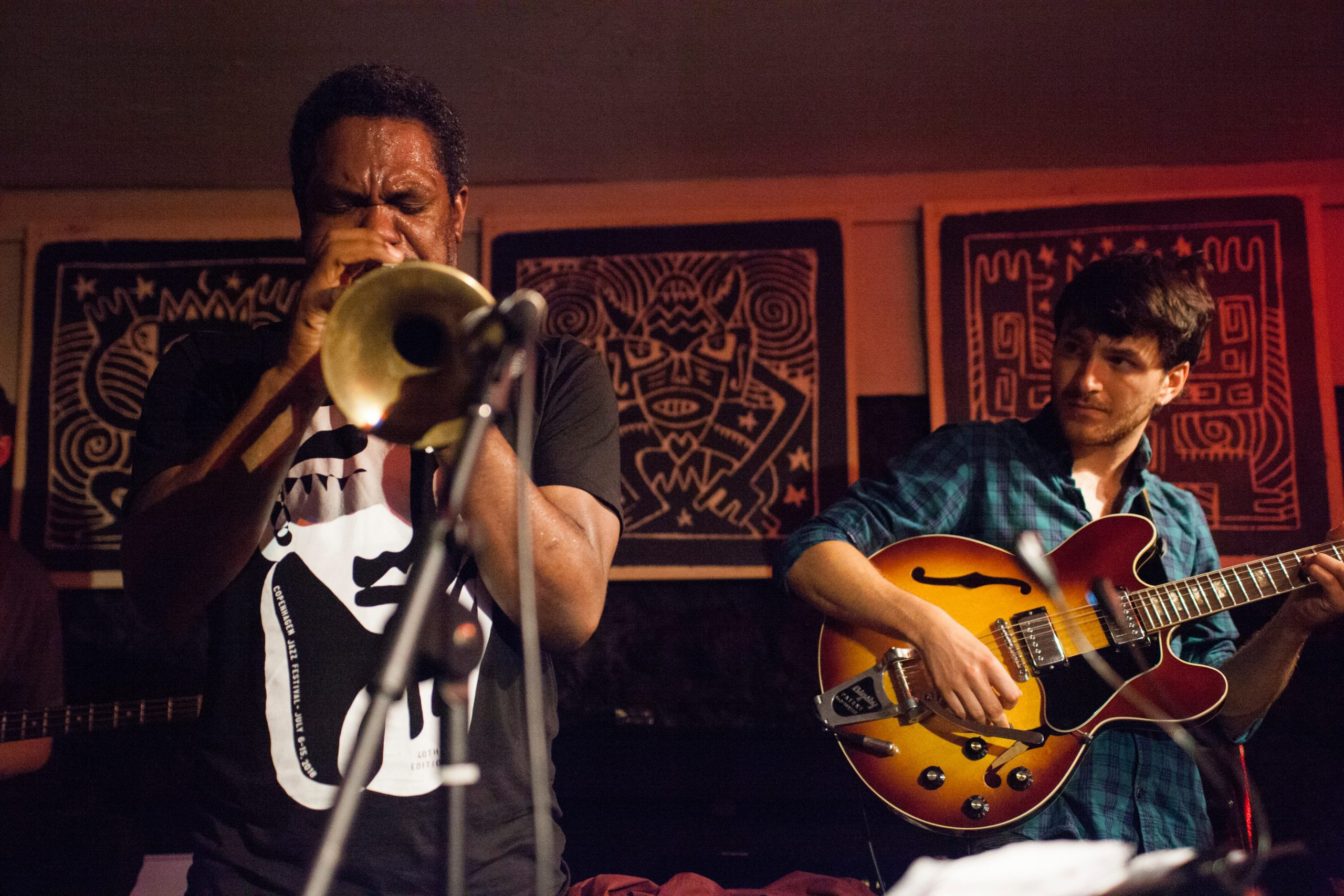 Trumpet Player and Guitar Player at The Crypt